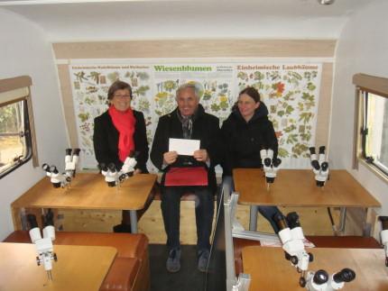 Bürgermeister Jürgen Huber besucht das Naturmobil